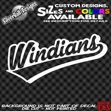 Cleveland Indians Windians Custom Sticker Decal Car Truck Window Tribe Cle 216 Ebay