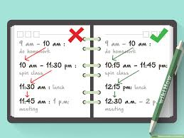 schedule with pictures wikihow