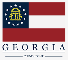Georgia Flag Sticker Current State Traditions
