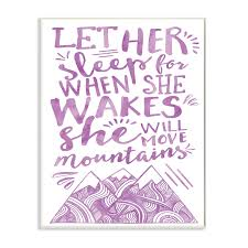 Shop The Kids Room By Stupell Let Her Sleep Purple Mountains Wood Wall Art 13 X 19 Proudly Made In Usa 13 X 19 Overstock 30337359