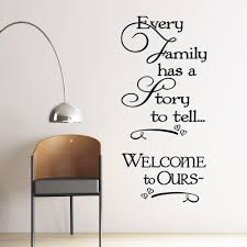 Every Family Has A Story To Tell Wall Sticker Picksthatstick