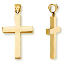 24k gold cross necklaces