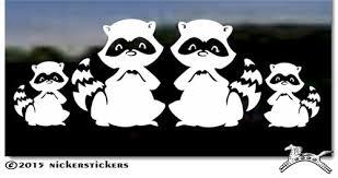 Raccoon Decals Stickers Nickerstickers