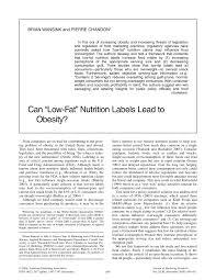 pdf can low fat nutrition labels