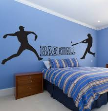 Baseball Wall Decal Set Sticker Kids Room Sports School Kids Sports Room Baseball Wall Decal Baseball Wall