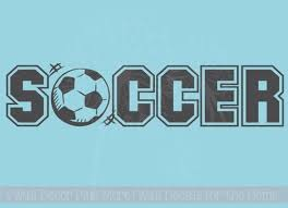 Soccer Lettering With Sports Ball Wall Art Vinyl Sticker Decals Boys Wall Words