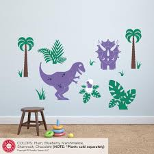T Rex Baby Triceratops Dinosaur Wall Decal Dinosaur Nursery Decor Graphic Spaces