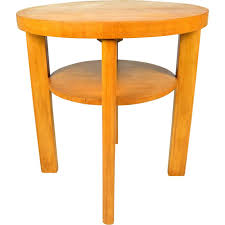 round beech vintage coffee table