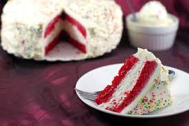 red velvet makeup ice cream cake