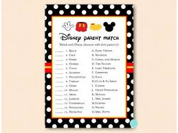 mickey mouse baby shower games pack in