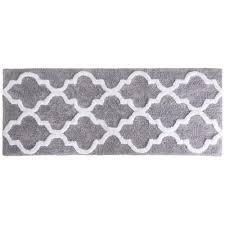 silver 24 in x 60 in bathroom mat