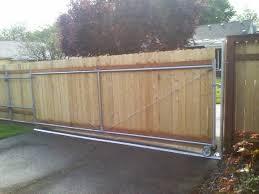 Wood Fence Rolling Gate Woodsinfo