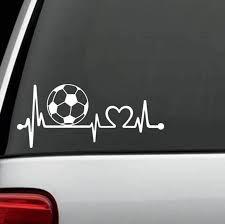Soccer Ball Heartbeat Lovewindow Decal Sticker Custom Sticker Shop