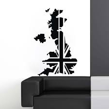 Uk Map Wall Stickers Large New Design Coffee Shop Pattern Wall Decal Vinyl Poster Sticker Uk Map Decals Wall Stickers Aliexpress
