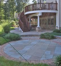 bluestone flagstone patio under raised deck
