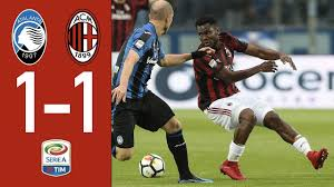 Highlights Atalanta 1-1 AC Milan - Serie 2017/2018 - YouTube