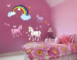 Unicorn Set Wall Decal With Rainbow Girls Room Wall Decal Sticker For Girls Nursery Vinyl Wall Art Kids Room Decor Ds 886 20in X 23in Walmart Com Walmart Com