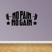 No Pain No Gain Wall Decal Exercise Wall Decal Workout Gym Health Fitness Jp446 Walmart Com Walmart Com