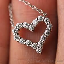 tiffany co mini diamond heart