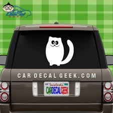 Cute Goofy Kitty Cat Car Vinyl Decal Window Stickers