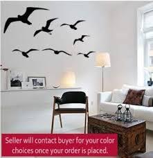 Amazon Com Aluckyhorseshoe Seagull Wall Decal Flying Birds Sticker Sea Bird Flock Decal Den Wall Decor College Dorm Room Decal Girls Room Teen 27 X 48 Inches Home Kitchen