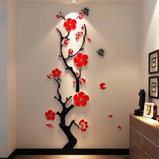 Plum Flower Wall Decor Stickers 3d Decals Molleos