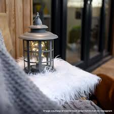 large outdoor battery flickering candle