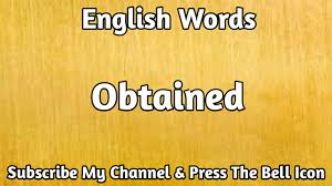 English#Vocabulary Obtained English Word | Learn English Words ...