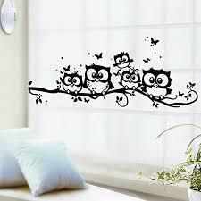 Cartoon Owl Butterfly Wall Sticker Wallpaper Art Vinyl Home Room Decor Decals For Sale Online