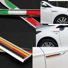 Alien Storehouse National Flag Design Metal Sticker Decal For Car Vehicle Decor 15 X 1 7 Cm 5 9 X 0 67 Inches Germany