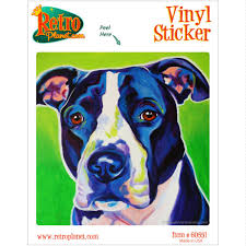 Sadie Dog Pit Bull Vinyl Sticker Laptop Bumper Pop Art Decal For Sale Online
