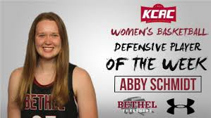 Abby Schmidt named KCAC Defensive Player of the Week for fourth time this  season | Bethel College Athletics