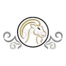 zodiac symbol embroidery design