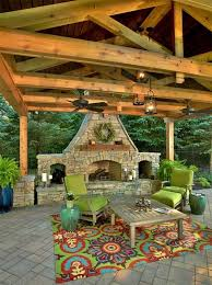 patio designs with fireplace patio