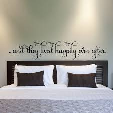 And They Lived Happily Ever After Vinyl Wall Sticker Romantic Saying Wall Decals For Home Bedroom Decoration Vinyl Wall Stickers Wall Stickerwall Sticker Romantic Aliexpress