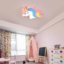 Led Light Girls Room Bedroom Boys Child Baby Kids Room Light Lamp Animal Unicorn Children Kids Ceiling Light With Remote Control Ceiling Lights Aliexpress