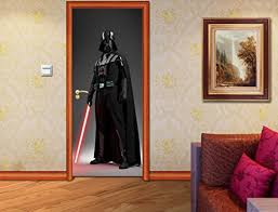 Wall Stickers Murals Star Wars Darth Vader Door Wrap Decal Wall Sticker Personalized Any Name D02 Custom Wall Stickers Wall Murals Wall Stickers Wall Murals
