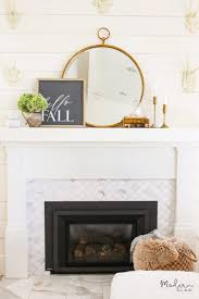 simple and neutral fall mantel decor
