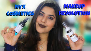 nyx dewy finish setting spray vs makeup