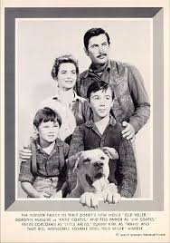 Old Yeller Portrait - Dorothy McGuire, Fess Parker, Tommy Kirk and ...