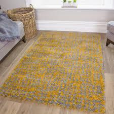 ochre yellow textured gy rug