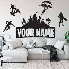 Amazon Com Wsyyw Customised Name Wall Sticker Vinyl Boys Gaming Room Kids Room Wall Decor Wall Decals For Gamer Room Decoration Accessories A2 143x57cm Kitchen Dining