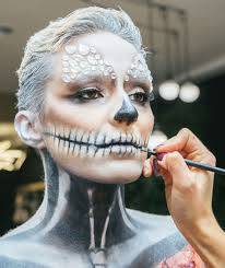 scary yet pretty halloween makeup