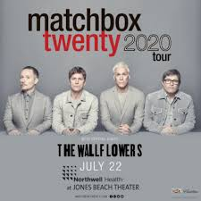 Matchbox Twenty MOVED TO 7/25/21 at Northwell Health at Jones Beach Theater  - July 22, 2020 - WBAB