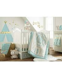 Don T Miss Sales On Levtex Baby Little Feather Aqua 5 Piece Crib Bedding Set Quilt 100 Cotton Crib Fitted Sheet 3 Tiered Dust Ruffle Diaper Stacker And Large Wall Decals