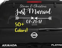 Just Married Car Window Decal Wedding Car Kit Just Married Decal Just Married Sign Wedding Car Decals Wedding Decorations Vehicle Decals Just Married Car Just Married Sign Just Married