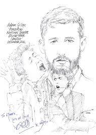 Drawing: Adam Gillen in Amadeus   ChicanePictures
