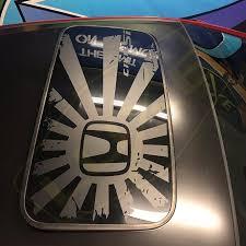 Honda Civic Sunroof Decal Distressed Rising H