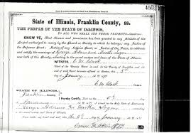 Marriage license, Martha Logan and George Adams, Franklin County, Illinois,  1871 | logan connections