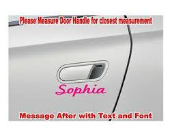 Custom Door Handle Name Text Vinyl Decal Sticker Jeep Car Truck Window Accessories Letters Numbers Words Back Personal Door Handles Custom Door Handle Car Door